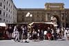 Tourist stall at the Piazza Della Repubblica Florence