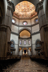 Interior of the Duomo in Florence.