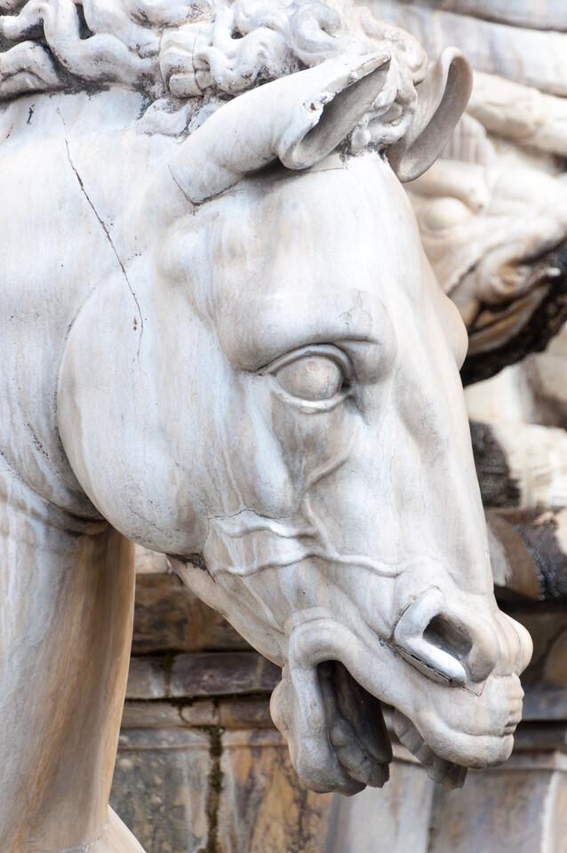 The statuary on Piazza della Signoria in Florence, Italy