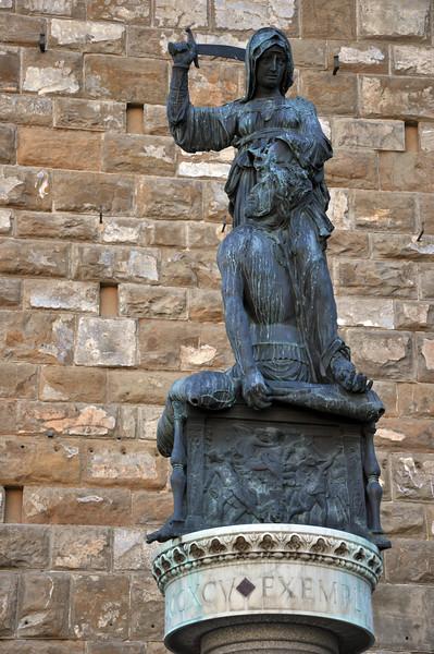 """""""Judith and Holofernes"""", by Donatello (copy). In the Piazza della Signoria."""