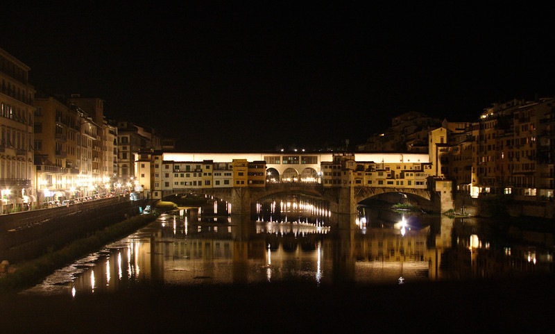 Ponte Vecchio Florence at night