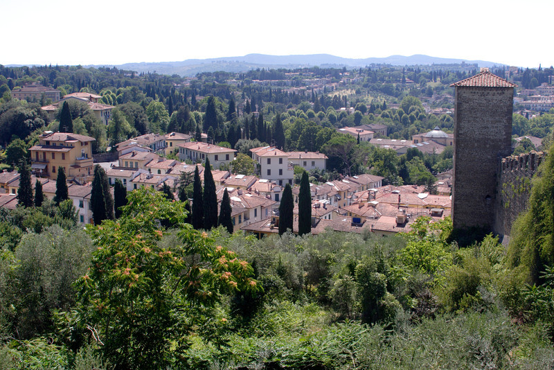 Florence suburb and countryside view from Boboli Gardens