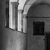 Basilica di San Lorenzo courtyard walls black and white