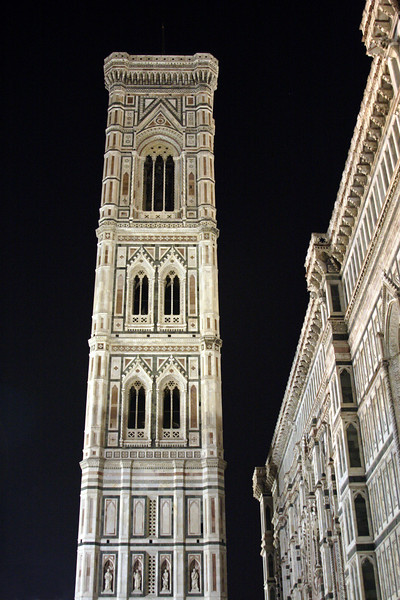 Campanile of the Duomo Florence at night