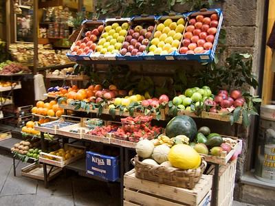 Florence fruit market.