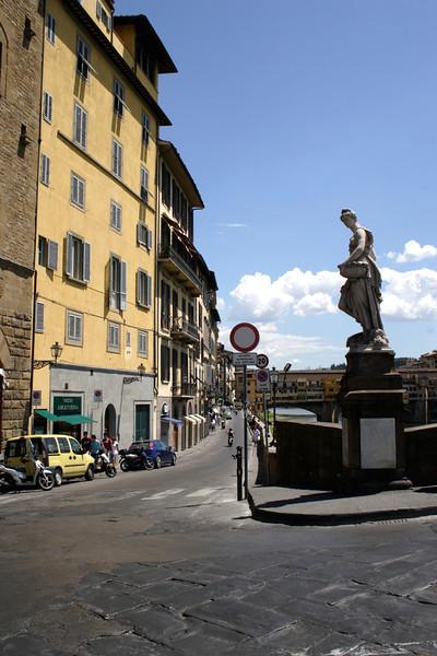Florence at the Ponte Santa Trinita Bridge