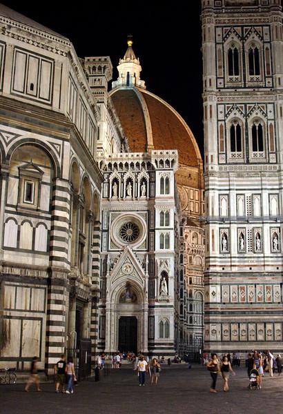 Duomo Campanile and Baptistry Florence at night