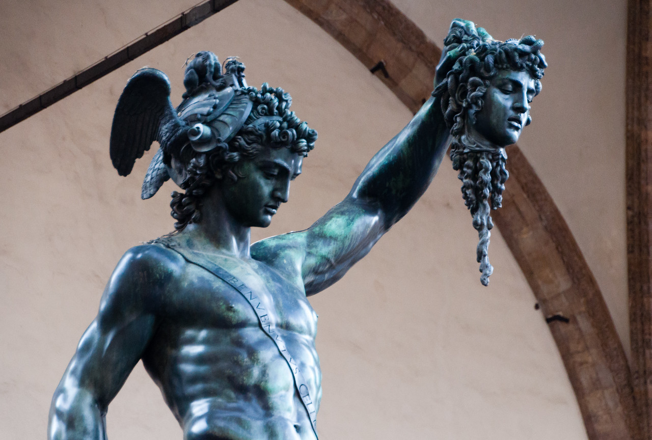 The statuary on the Piazza della Signoria in Florence, Italy