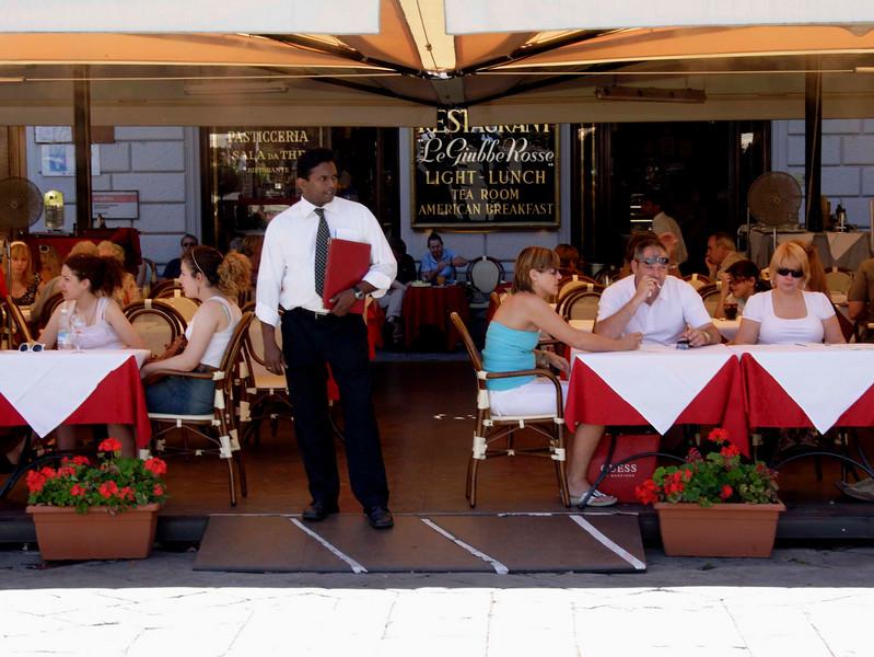 Cafe at the Piazza Della Repubblica Florence July 2007