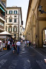 Street scene Florence Vasari Corridor on right