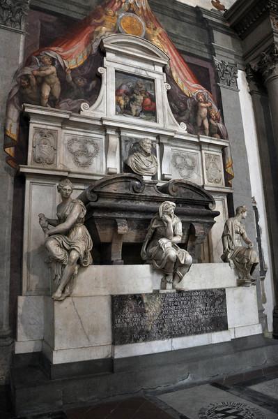 Tomb of Michelangelo. Inside the Basilica di Santa Croce.