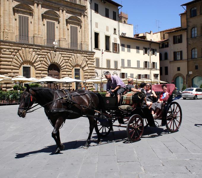 Horse and carriage Piazza Della Signoria Florence