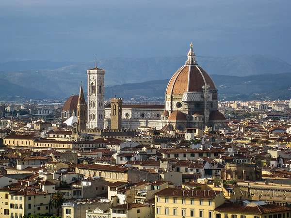 The Duomo, Giotto's Bell Tower as seen from Piazzale Michelangelo