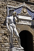 Statue of David replica at the Piazza Della Signoria Florence