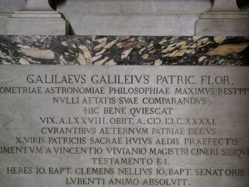 Galileo's Tomb in Santa Croce