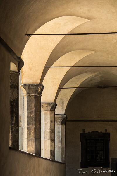 Basilica di San Lorenzo courtyard walls