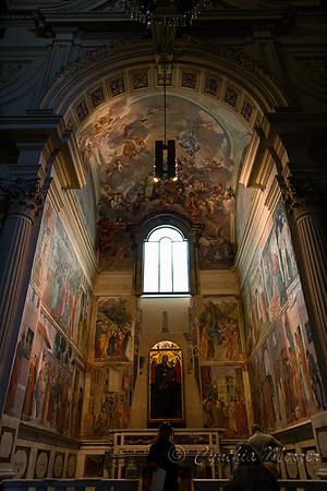Brancacci Chapel with frescoes by Masaccio, Masolino and Filippino Lippi.