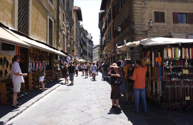 Street market San Lorenzo Florence July 2007