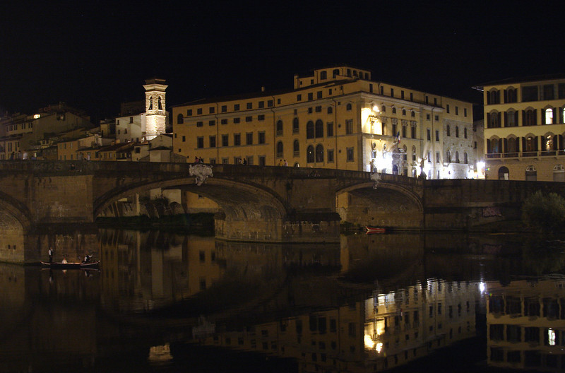 Ponte Santa Trinita bridge Florence at night