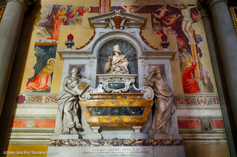 Galileo Galilei's tomb at Basilica of Santa Croce, Florence