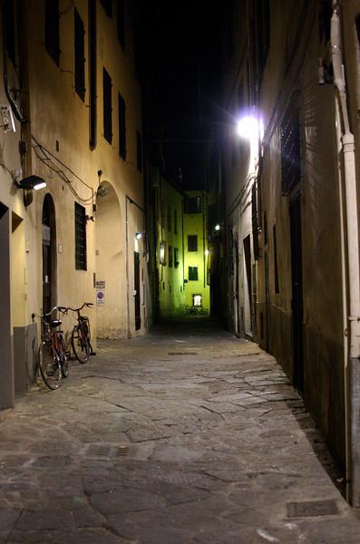 Dark alley at night Florence