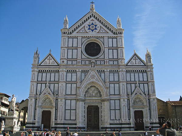 Church of Santa Croce. Numerous members of Italian culture are either entombed or memorialized within, similar to Westminster Abbey.