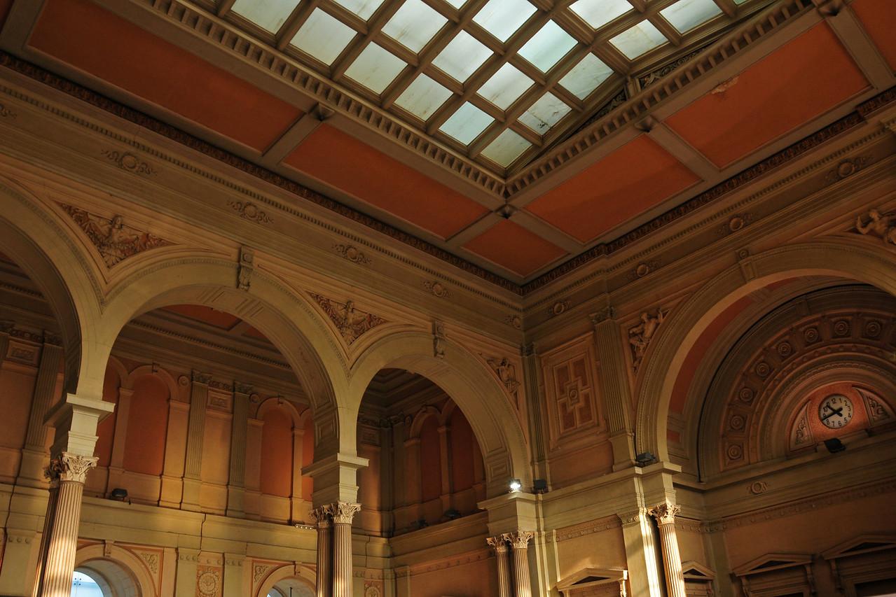 Inside the railway station in Trieste