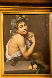 Young Sick Bacchus - Caravaggio - early Self-Portrait as Bacchus
