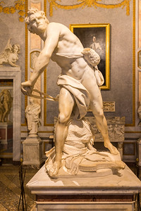 David with rock and sling - Bernini