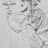 Carving of a man Herculaneum