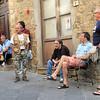 Street socialising in Volterra