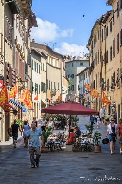 Medieval street in Volterra
