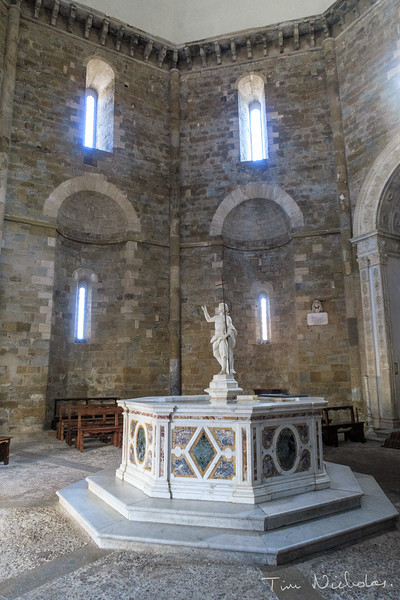 13th century Baptistry, next to the Volterra Cathedral