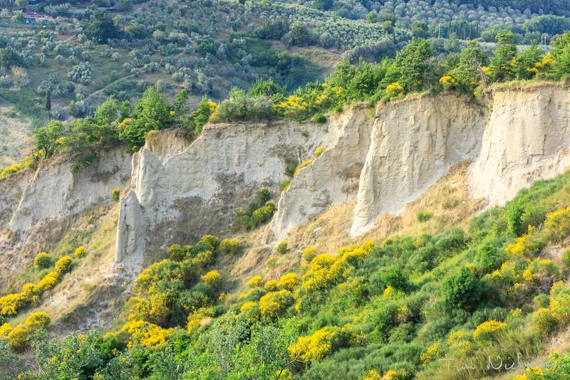 Limestone cliffs of Volterra