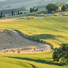 Rolling farmland outside Volterra