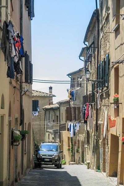Volterra typical medieval street scene