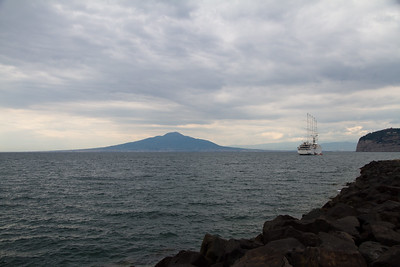 In the distance, Mt. Vesuvius.