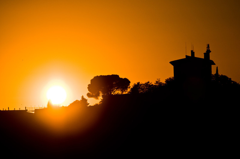 Title: The Setting Tuscan Sun<br /> Date: October 2011<br /> Florence