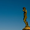 Title: Standing Against Florence's Enemies<br /> Date: October 2011<br /> Bronze copy of Michelangelo's David in Florence.