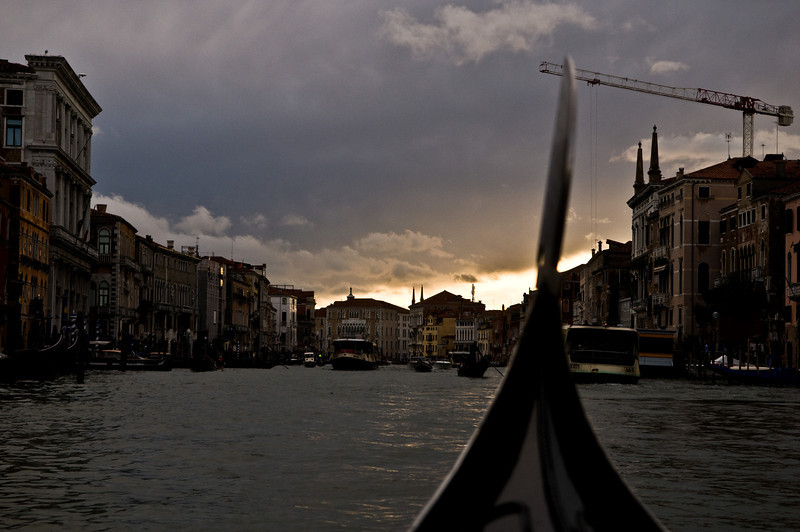 Title: On the Grand Canal at Sunset<br /> Date: October 2011<br /> Venice