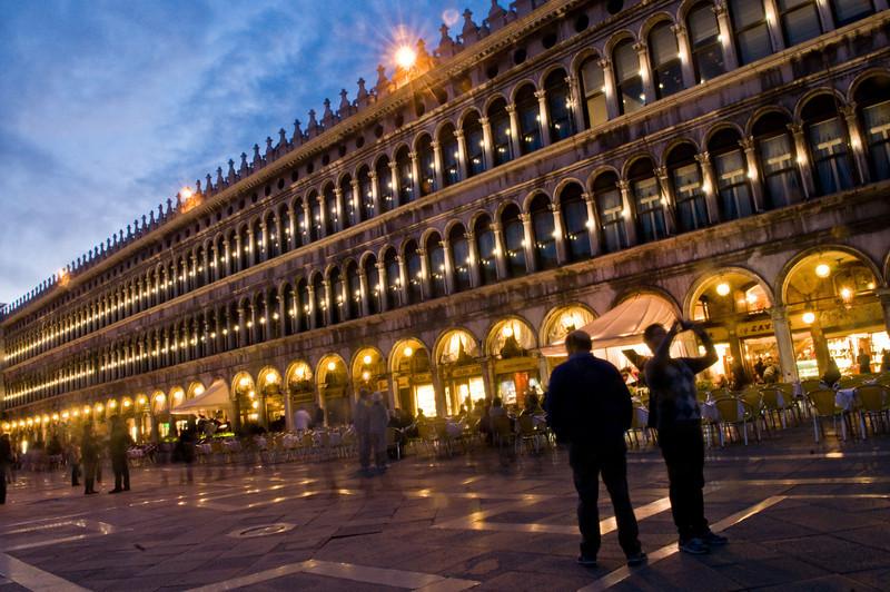 Title: Procuratie Vecchie at Night<br /> Date: October 2011<br /> Venice
