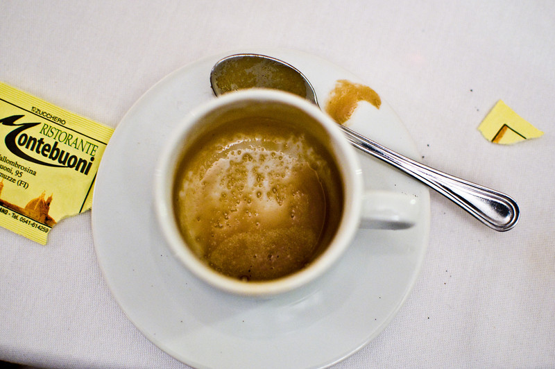 Title: Espresso<br /> Date: October 2011<br /> My first cup of coffee.  Ever.  At the Tuscan feast outside of Florence.