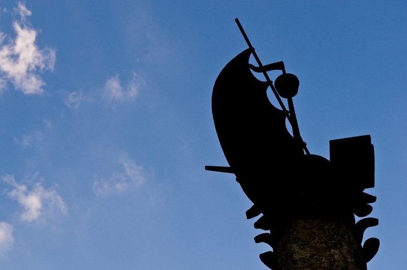 Title: Sailing the Ocean Blue<br /> Date: October 2011<br /> Monument to Christopher Columbus in Rome.