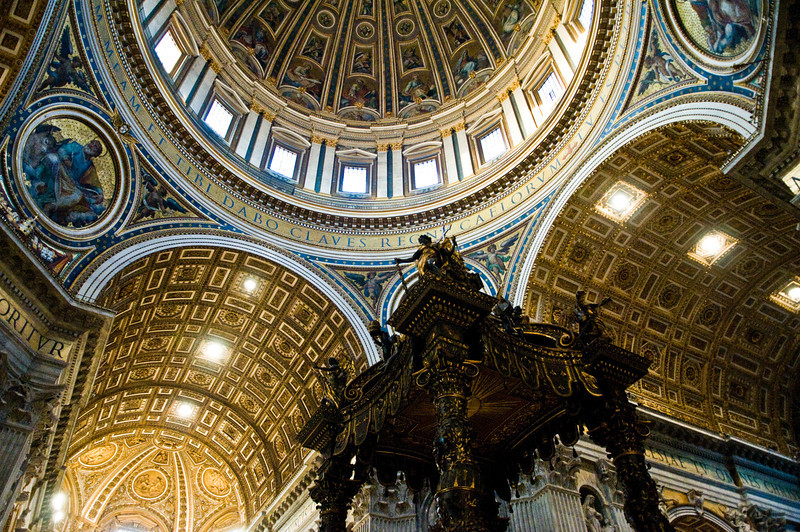 Title: Center of the Catholic World<br /> Date: October 2011<br /> Inside Saint Peter's Basilica.