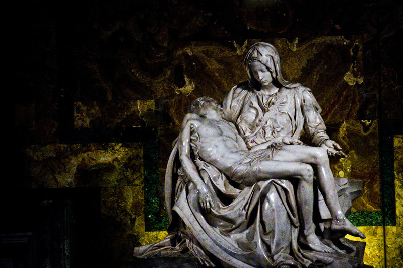 Title: Pieta<br /> Date: October 2011<br /> Michelangelo's Pietà inside Saint Peter's Basilica.