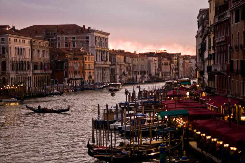 Title: Sunset from the Rialto<br /> Date: October 2011<br /> Venice