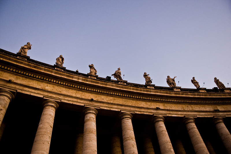Title: A Line of Saints<br /> Date: October 2011<br /> Vatican City