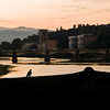 Title: Silhouette Against the Arno<br /> Date: October 2011<br /> Florence