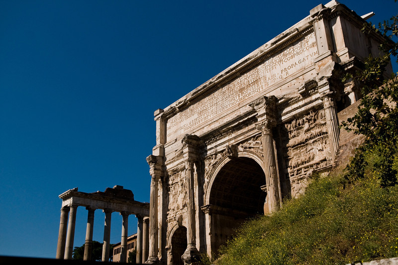 Title: The Severian Arch<br /> Date: October 2011<br /> The Severian Arch in the Imperial Forum in Rome.