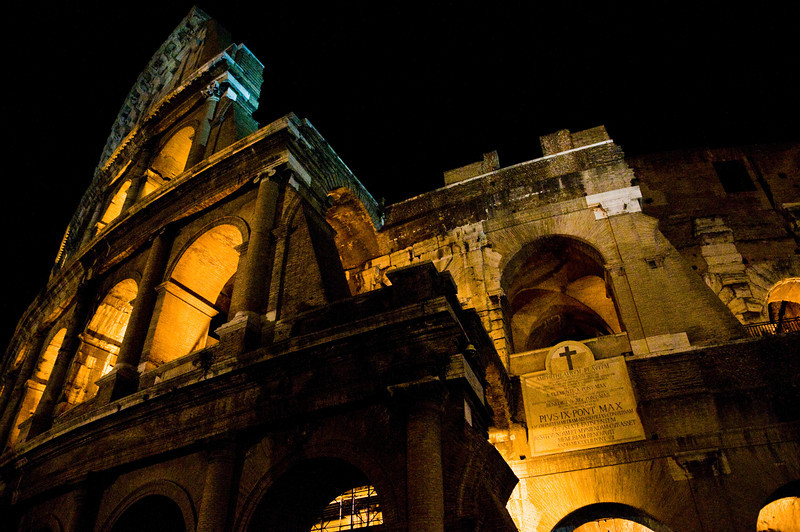 Title: Night Details<br /> Date: October 2011<br /> The Coliseum at night.